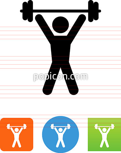 Person Lifting Weights Icon