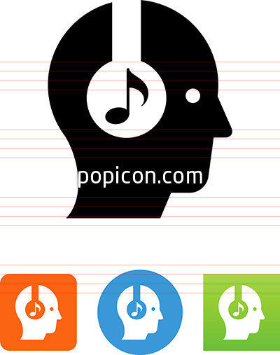 Person Listening To Headphones Icon