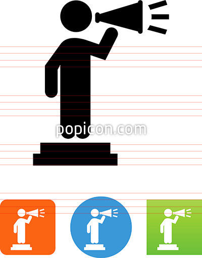 Person On A Stage With A Megaphone Icon