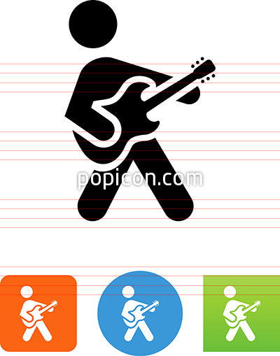 Person Playing An Electric Guitar Icon
