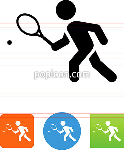 Person Playing Tennis Icon