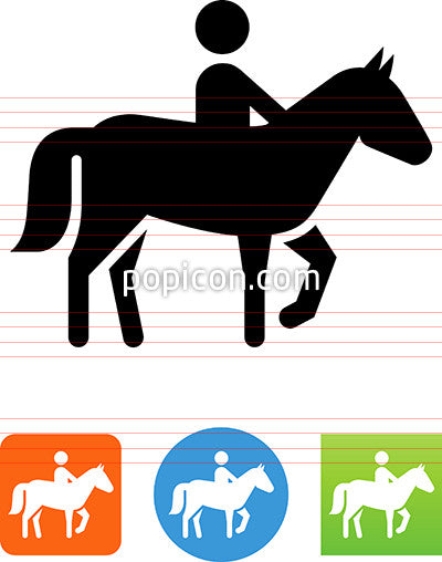 Person Riding A Horse Icon