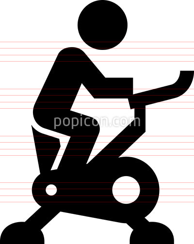 Person Riding Exercise Bike Vector Icon
