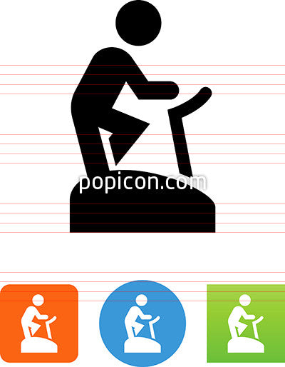 Person Riding On An Exercise Bike Icon