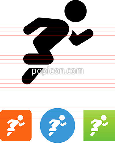 Person Running A Race Icon