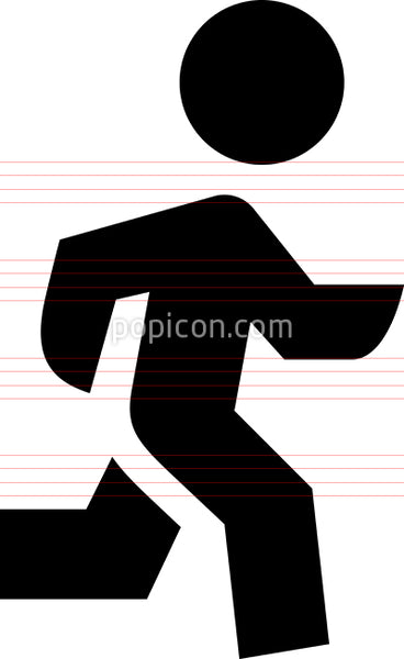Person Running Vector Icon