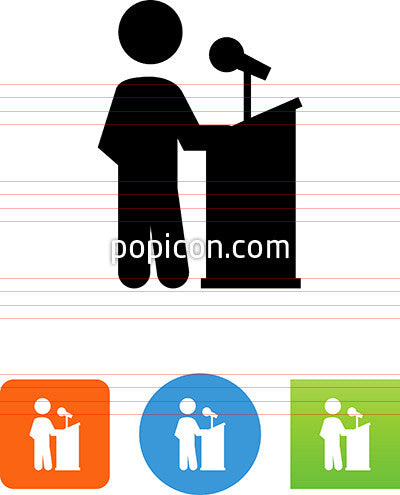 Person Standing At A Podium Icon