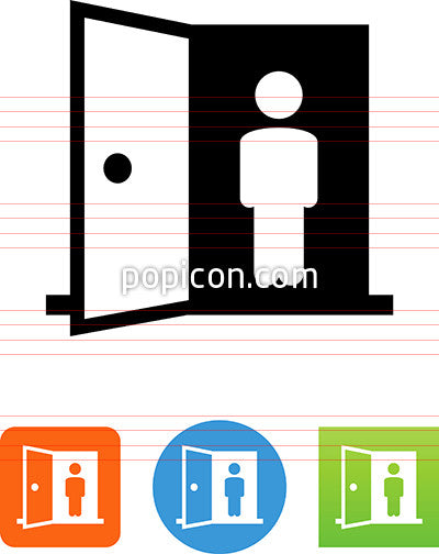 Person Standing In Doorway Icon