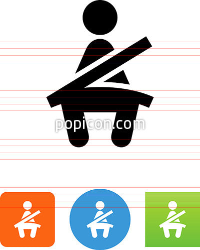 Person Strapped In A Seatbelt Icon