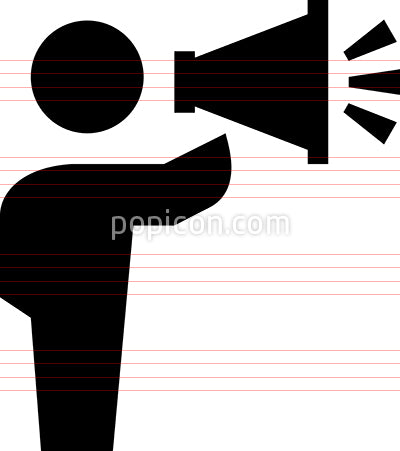 Person Talking Through Megaphone Vector Icon