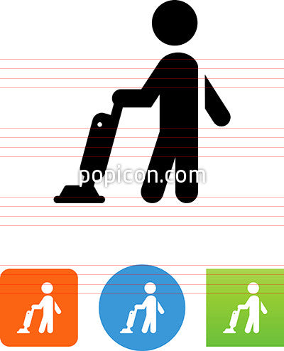 Person Vacuuming Icon