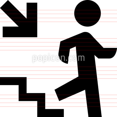 Person Walking Down Steps Icon