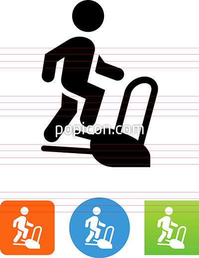 Person Walking On A Stair Machine Icon