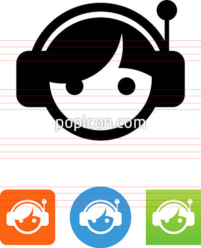 Person Wearing Headphones Icon