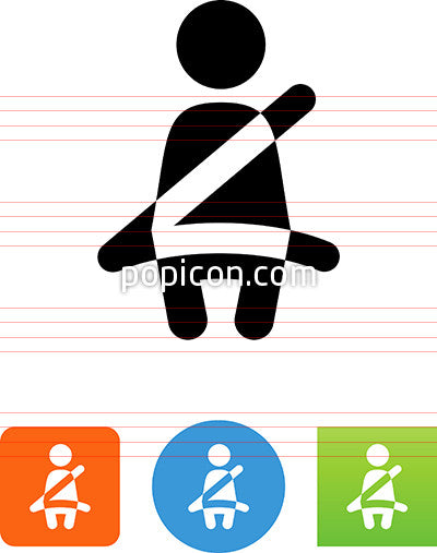 Person Wearing Seatbelt Icon