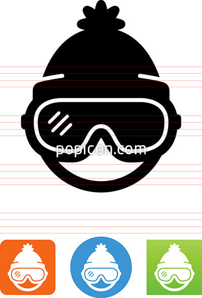 Person Wearing Ski Goggles Icon