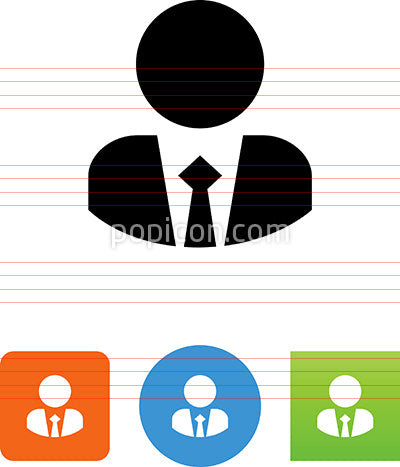 Person Wearing Suit And Tie Icon