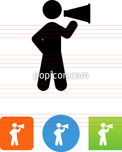 Person With A Megaphone Icon