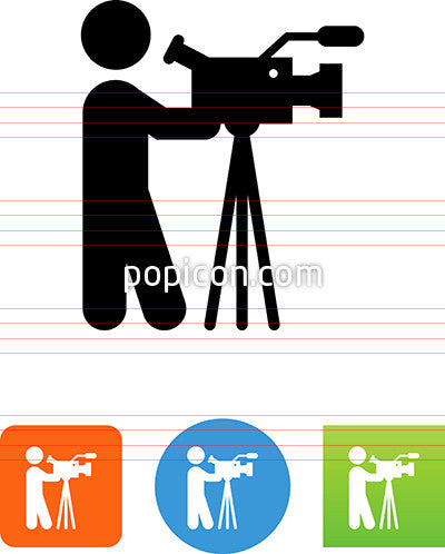 Person With A Professional Video Camera Icon