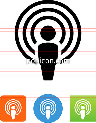 Person With Audio Waves Icon