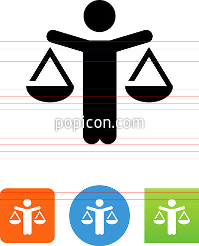 Person With Balance Scales Icon