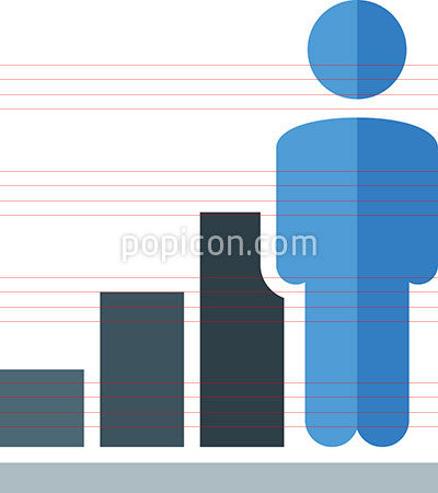 Person With Business Chart Icon