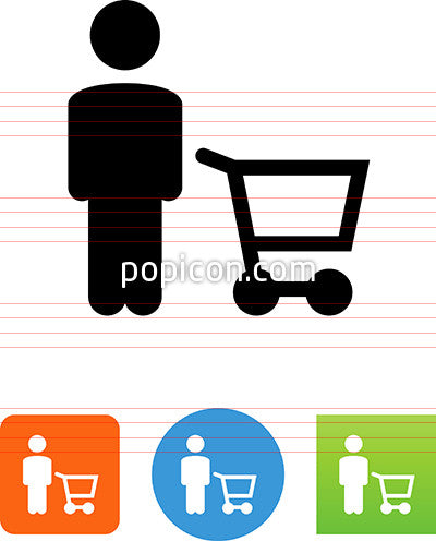 Person With Cart Icon