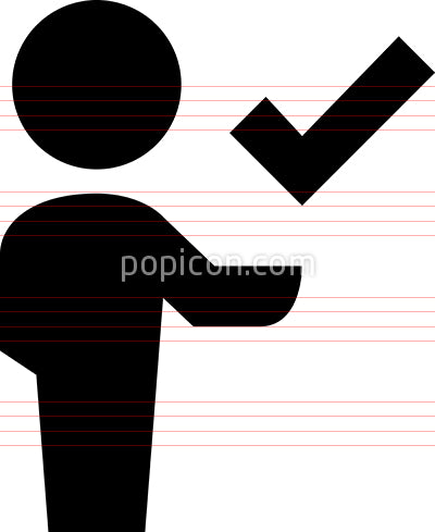 Person With Checkmark Vector Icon