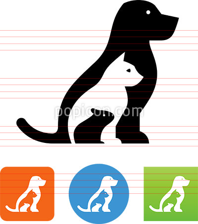 Pet Shop Vet Animals Vector Icon
