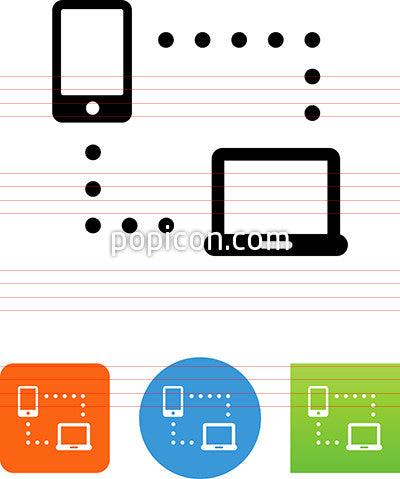 Phone And Laptop Network Icon