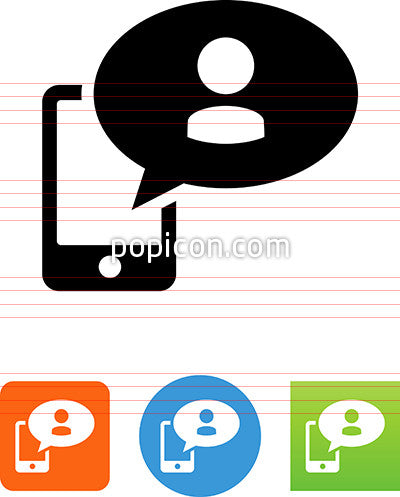 Phone Avatar Message Icon