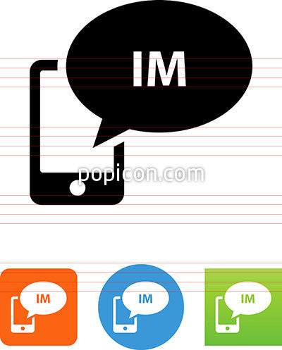 Phone Instant Message Icon