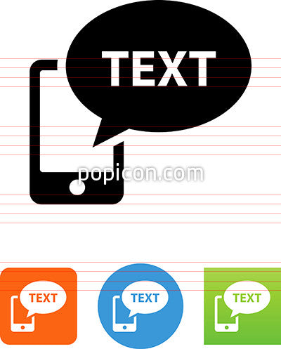 Phone Text Message Icon