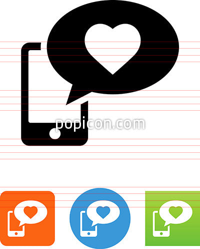 Phone Valentine Message Icon
