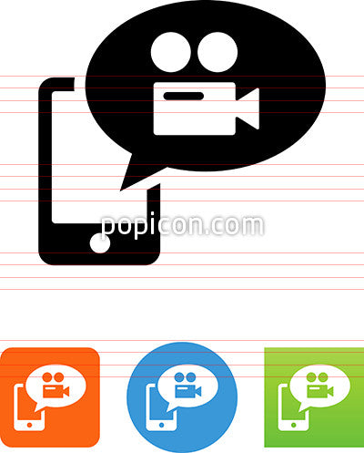 Phone Video Message Icon