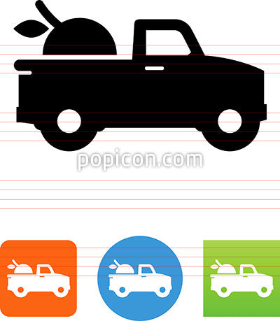 Pickup Truck Delivering Produce Icon