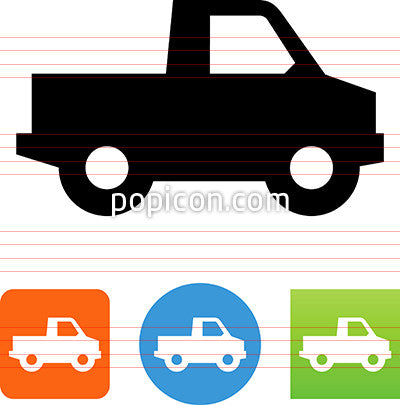 Pickup Truck Profile Icon