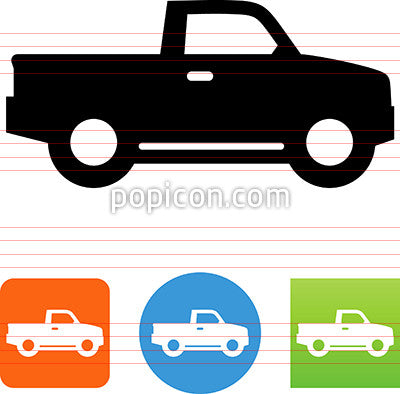 Pickup Truck Side View Icon