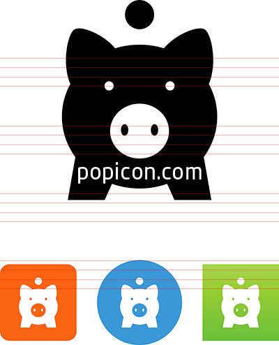 Piggy Bank Front View Icon