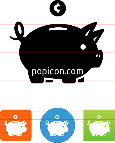 Piggy Bank With Cent Icon