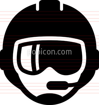 Pilot With Microphone Icon