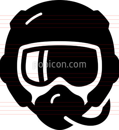 Pilot With Oxygen Mask Icon