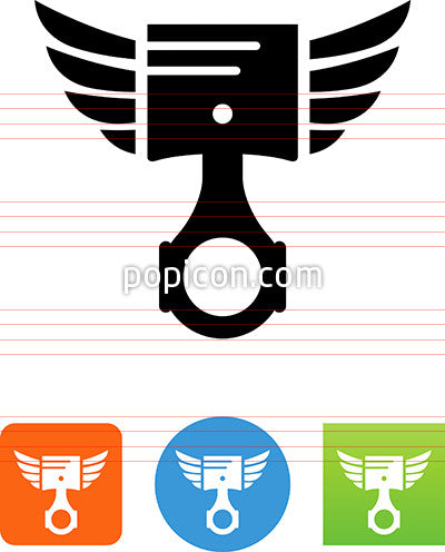 Piston With Wings Icon