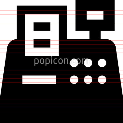 Point Of Sale Cash Register Vector Icon