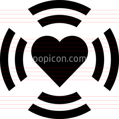 Pounding Heart Vector Icon
