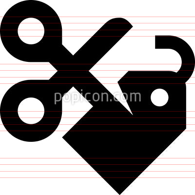 Price Cutting Discount Tag Icon