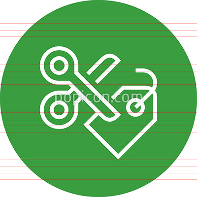 Price Cutting Discount Tag Outline Icon