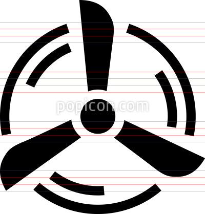 Propeller Fan Turbine Vector Icon