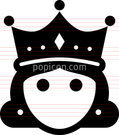 Queen With Crown Icon