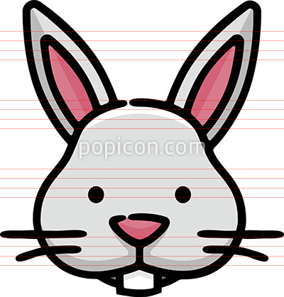 Rabbit Head Hand Drawn Icon